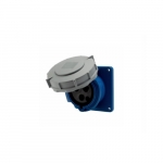 30 Amp Pin and Sleeve Receptacle, 2-Pole, 3-Wire, 250V, Blue