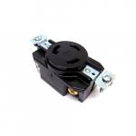30 Amp Locking Receptacle, Standard, 3-Pole, 3-Wire, 250V, Black