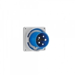 63 Amp Pin and Sleeve Inlet, 2-Pole, 3-Wire, 240V, Blue