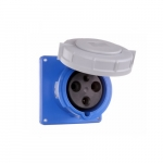 63 Amp Pin and Sleeve Receptacle, 2-Pole, 3-Wire, 240V, Blue