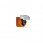 100 Amp Pin and Sleeve Receptacle, 3-Pole, 4-Wire, 250V, Orange