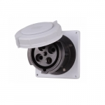100 Amp Pin and Sleeve Receptacle, 3-Pole, 4-Wire, 600V, Black