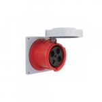 100 Amp Pin and Sleeve Receptacle, 3-Pole, 4-Wire, 480V, Red