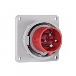 125 Amp Pin and Sleeve Inlet, 3-Pole, 4-Wire, 415V, Red