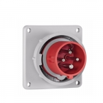 16 Amp Pin and Sleeve Inlet, 3-Pole, 4-Wire, 415V, Red