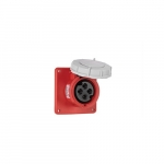 16 Amp Pin and Sleeve Receptacle, 3-Pole, 4-Wire, 415V, Red