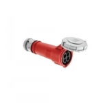 63 Amp Pin and Sleeve Connector, 3-Pole, 4-Wire, 415V, Red