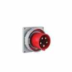 125 Amp Pin and Sleeve Inlet, 4-Pole, 5-Wire, 415V, Red