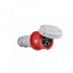 125 Amp Pin and Sleeve Connector, 4-Pole, 5-Wire, 415V, Red