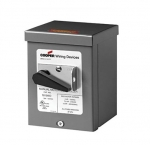 10 AWG Manual Motor Controller in Copper-less Aluminum Enclosure, NEMA 3R