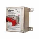 30 Amp Motor Control Switch, Pre-Drilled, With NEMA 4X Drain, Silver
