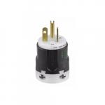 20 Amp Straight Blade Plug w/ Ultra Grip, 2-Pole, 3-Wire, #18 to 12 AWG, 125V