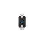 30 Amp Color Coded Single Receptacle, 3-Pole, 3-Wire, #14-8 AWG, 250V, Blue