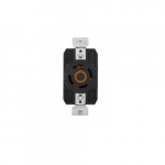 20 Amp Color Coded Receptacle, 3-Pole, 4-Wire, #14-8 AWG, 125/250V, Orange