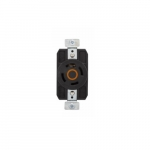 30 Amp Color Coded Receptacle, 3-Pole, 4-Wire, #14-8 AWG, 125/250V, Orange