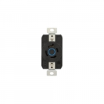 20 Amp Color Coded Receptacle, 3-Pole, 4-Wire, #14-8 AWG, 250V, Blue