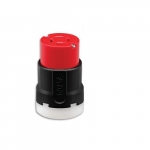 20 Amp Ultra Grip Connector, NEMA L16-20, 3-Pole, 480V, Red & Black