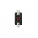 30 Amp Color Coded Receptacle, 3-Pole, 4-Wire, #14-8 AWG, 480V, Red