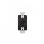 30 Amp Color Coded Receptacle, 3-Pole, 4-Wire, #14-8 AWG, 600V, Black
