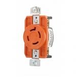 20 Amp Single Receptacle, Locking, NEMA L16-20, Industrial, Orange