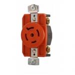 20 Amp Single Receptacle, Locking, NEMA L21-20, Industrial, Orange