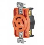 30 Amp Single Receptacle, Locking, NEMA L21-30, Industrial, Orange