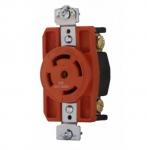 30 Amp Single Receptacle, Locking, NEMA L23-30, Industrial, Orange