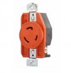 30 Amp Single Receptacle, Locking, Isolated Ground, Orange