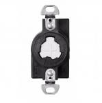 20 Amp Receptacle, Locking, Non-NEMA, Hospital Use, Black