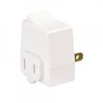 15 Amp Polarized Plug-In Switch, 125V, White