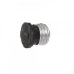 660W Polarized Medium Base Socket Adapter, NEMA 1-15R, Brown