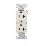 20 Amp Duplex Receptacle, Auto-Grounded, Commercial, Light Almond