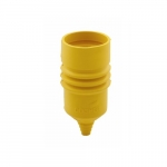 Weather Protective Boot for 15 Amp Hart-Lock Connector, Yellow