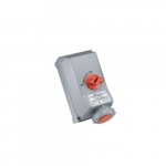 30 Amp Pin and Sleeve Mechanical Interlock w/ Breaker & Panel, 3-Pole, 4-Wire, 480V, Red