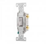 15 Amp Toggle Switch, Commercial, 120/277V, Grey