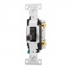 20 Amp Toggle Switch, Commercial, 120/277V, Black