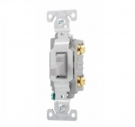 20 Amp Toggle Switch, Commercial, 120/277V, Grey