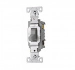 20 Amp Toggle Switch, 3-Way, Commercial, Grey