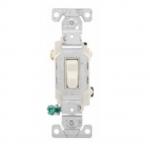 15 Amp Toggle Switch, 3-Way, 120/277V, Light Almond