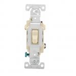 15 Amp Toggle Switch, 3-Way, 120/277V, Ivory
