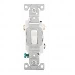 15 Amp Toggle Switch, 3-Way, 120/277V, White
