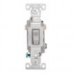 20 Amp Toggle Switch, 3-Way, 120/277V, Grey