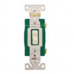20 Amp Toggle Switch, 3-Way, 120/277V, Light Almond