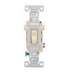20 Amp Toggle Switch, 3-Way, 120/277V, Ivory