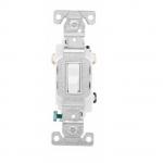 20 Amp Toggle Switch, 3-Way, 120/277V, White