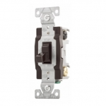 20 Amp Toggle Switch, 4-Way, 120/277V, Brown