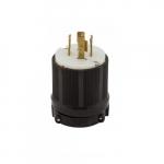 20 Amp Locking Plug, NEMA 14-20P, Black