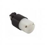 20 Amp Locking Connector, NEMA L2-20, 250V, Black/White