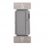 300W LED Decora Dimmer w/ Preset, Single Pole/3-Way, Grey