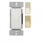 300W Universal Decora Dimmer, Single-Pole/3-Way, Preset, 120V, Almond/White/Ivory